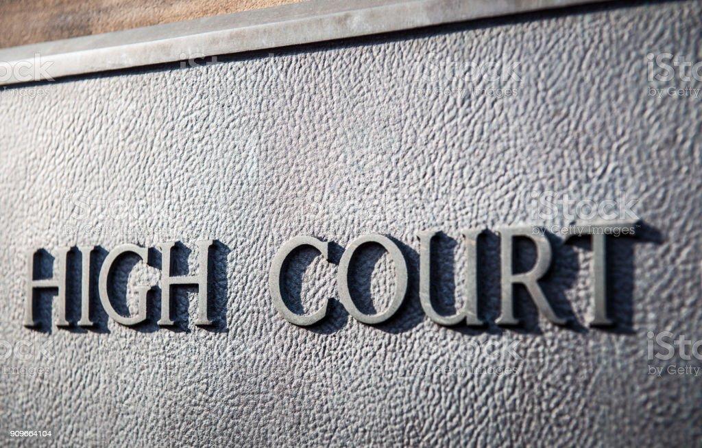 High Court Zeichen – Foto