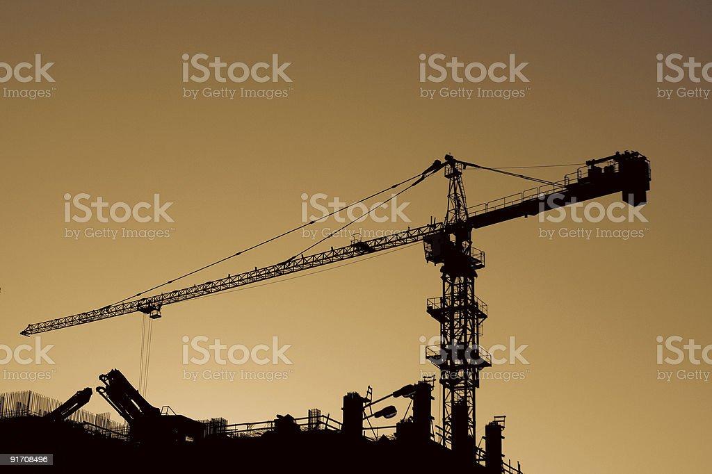 High Crane at sunset. royalty-free stock photo