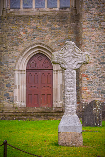 High Cross at Down Cathedral in Downpatrick