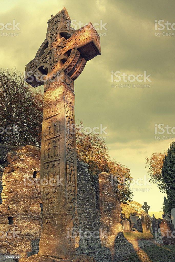 high cross in Monasterboice royalty-free stock photo