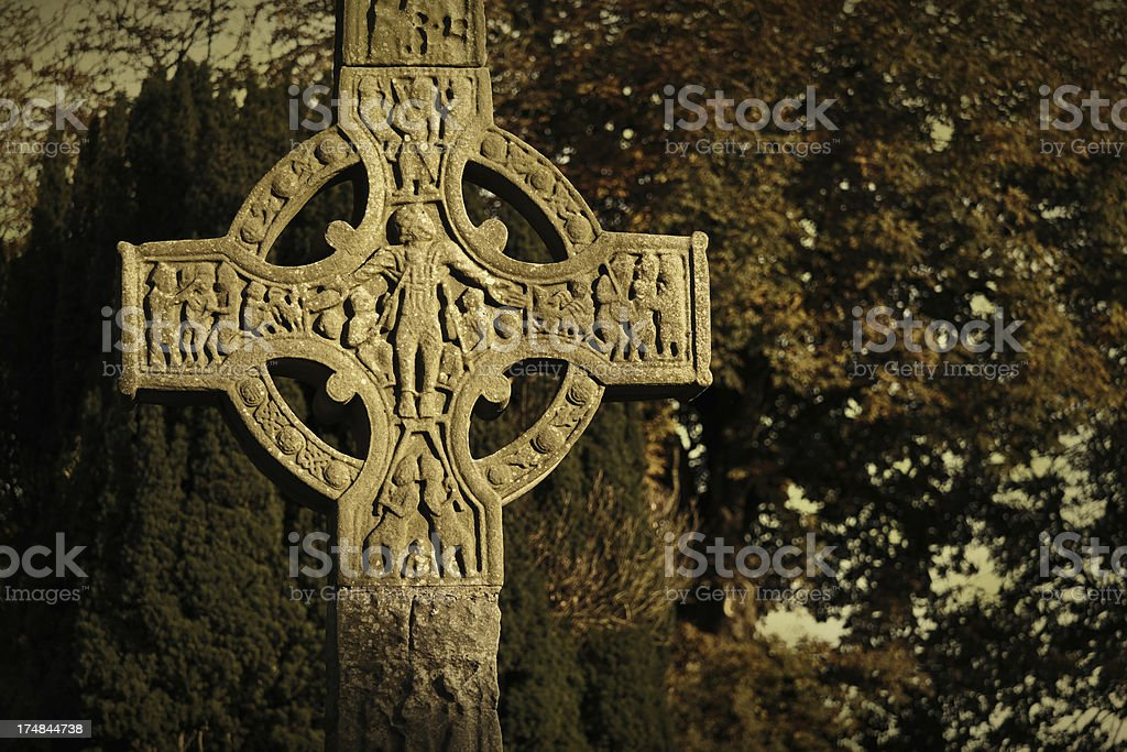 high cross in Monasterboice royalty-free stock photo