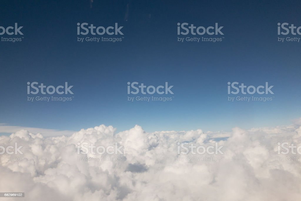 High cumulus clouds royalty-free stock photo