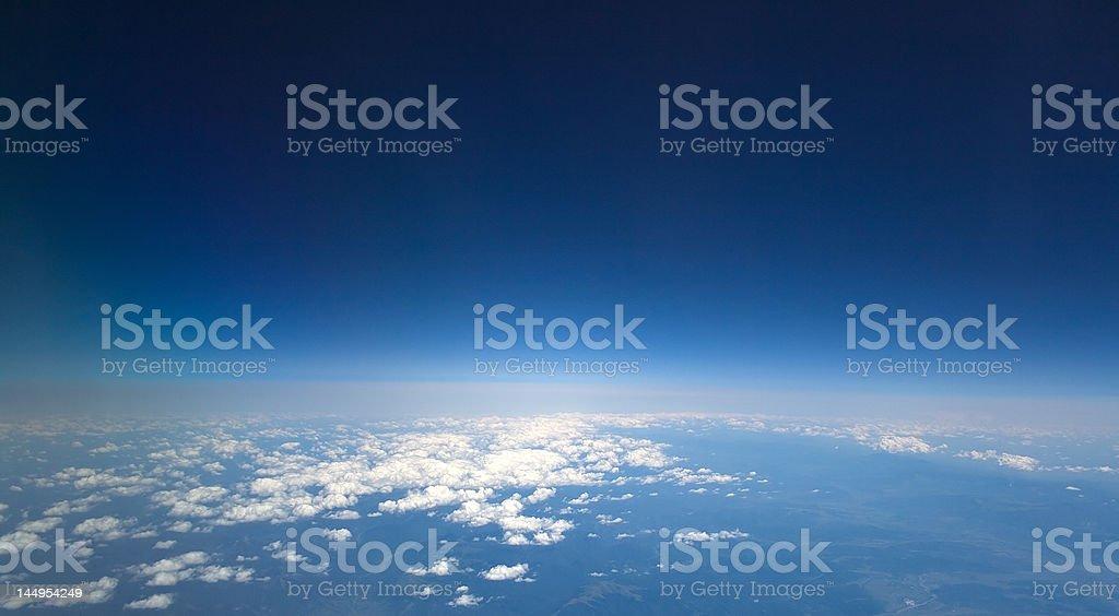 high dark blue sky royalty-free stock photo