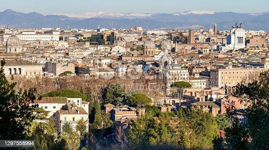 istock A High Definition panorama of the center of Rome and the Altare della Patria 1297558994