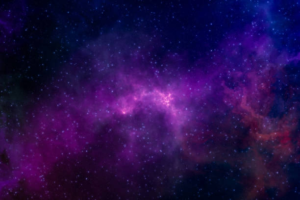 High definition star field, colorful night sky space. Nebula and galaxies in space. Astronomy concept background. stock photo