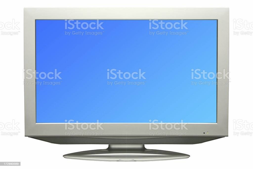 High Definition TV isolated on white royalty-free stock photo