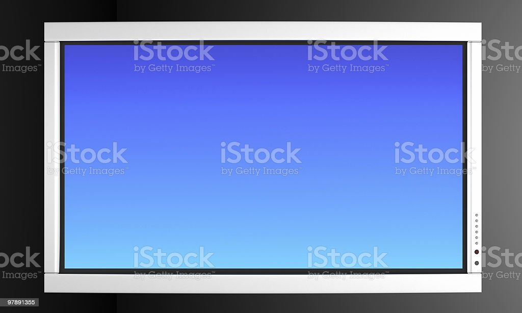 High Definition TV or Lcd Monitor royalty-free stock photo