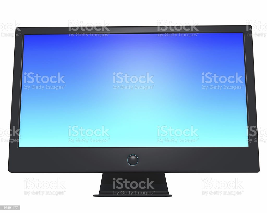 High Definition TV or Lcd Monitor Without Shadows royalty-free stock photo