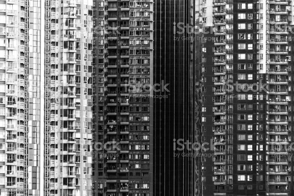 High density life, Hong Kong stock photo