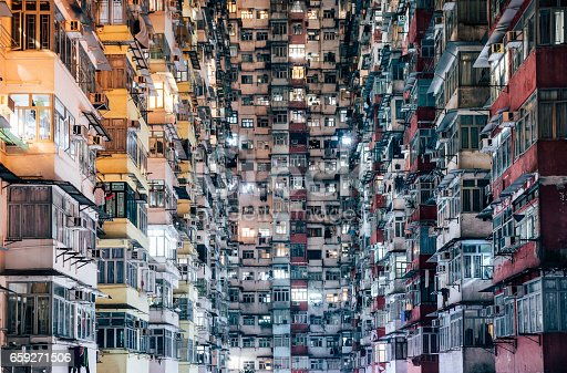 High density living in Hong Kong, China.