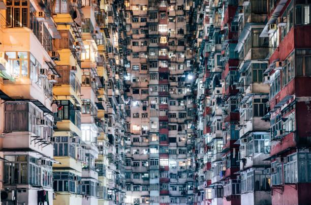 alta densidad de estar - hong kong fotografías e imágenes de stock