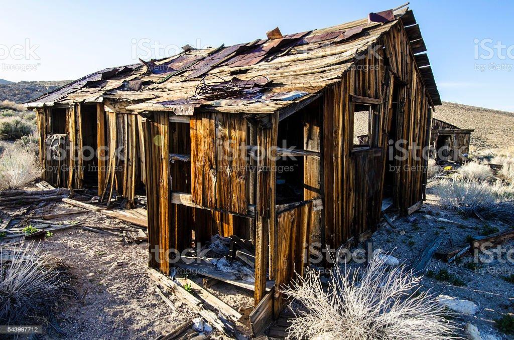 High desert shack stock photo