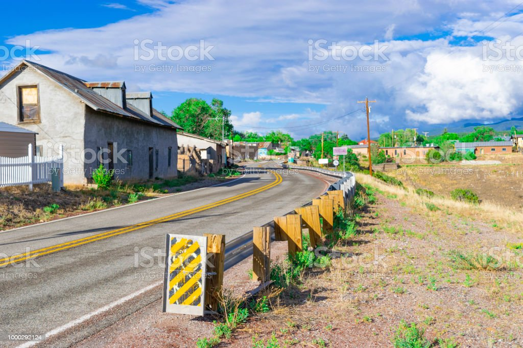 High Desert Town of Truchas, New Mexico near Taos stock photo