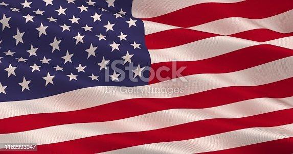 High Detail American Flag Seamless Loop