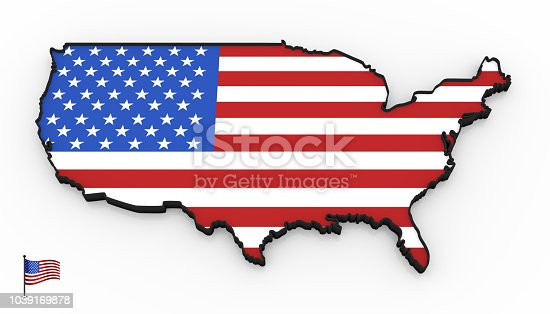 1056103150istockphoto USA high detailed 3D map 1039169878
