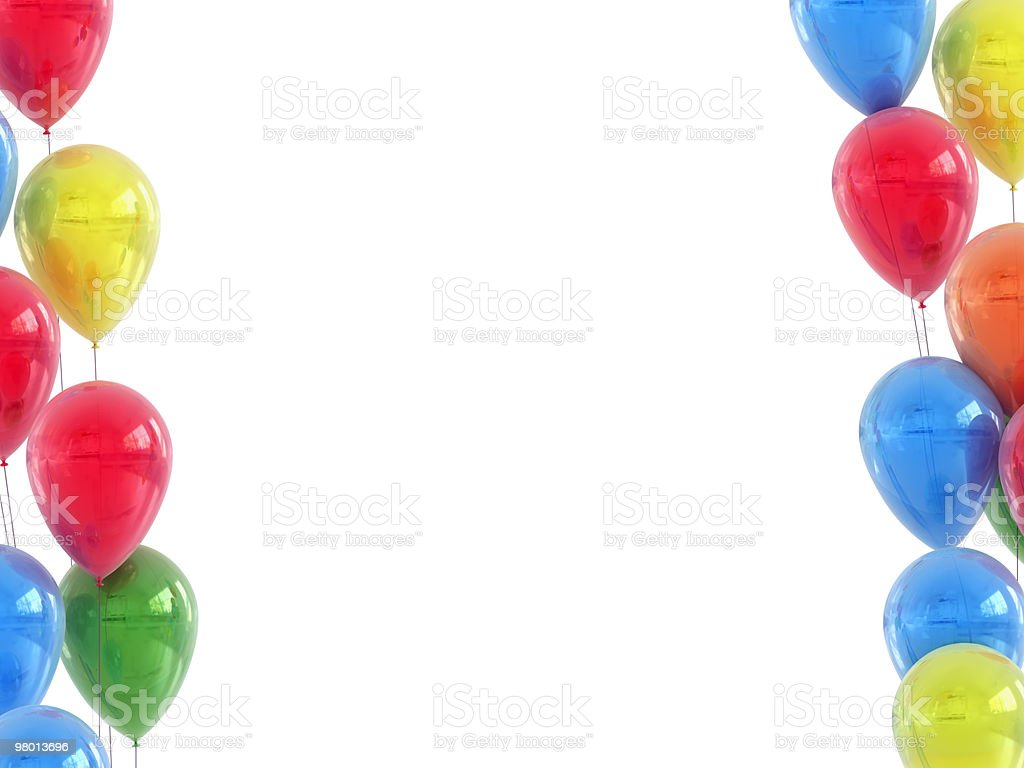 High Detailed Huge Size Frame Balloons royalty free stockfoto