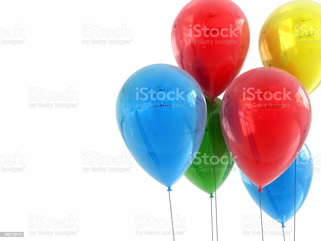 High Detailed Party Balloons. royalty-free stock photo