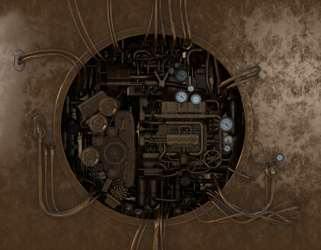 High detailed stylish machine gear