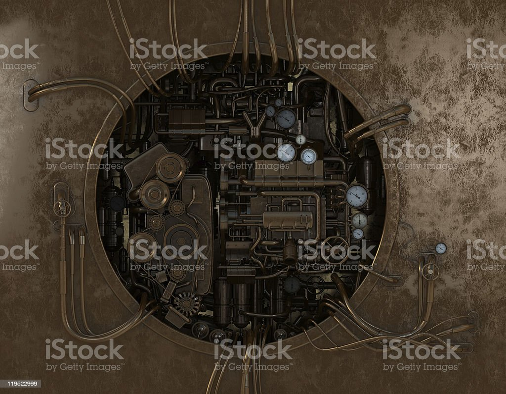 High detailed stylish machine gear stock photo