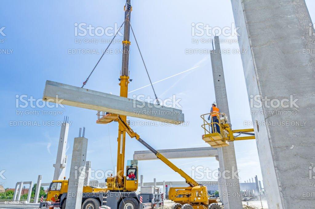 Zrenjanin, Vojvodina, Serbia –May 30, 2015: View on mobile crane....