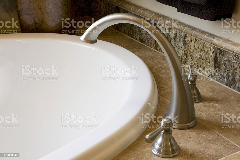 High End Faucet and Sink royalty-free stock photo