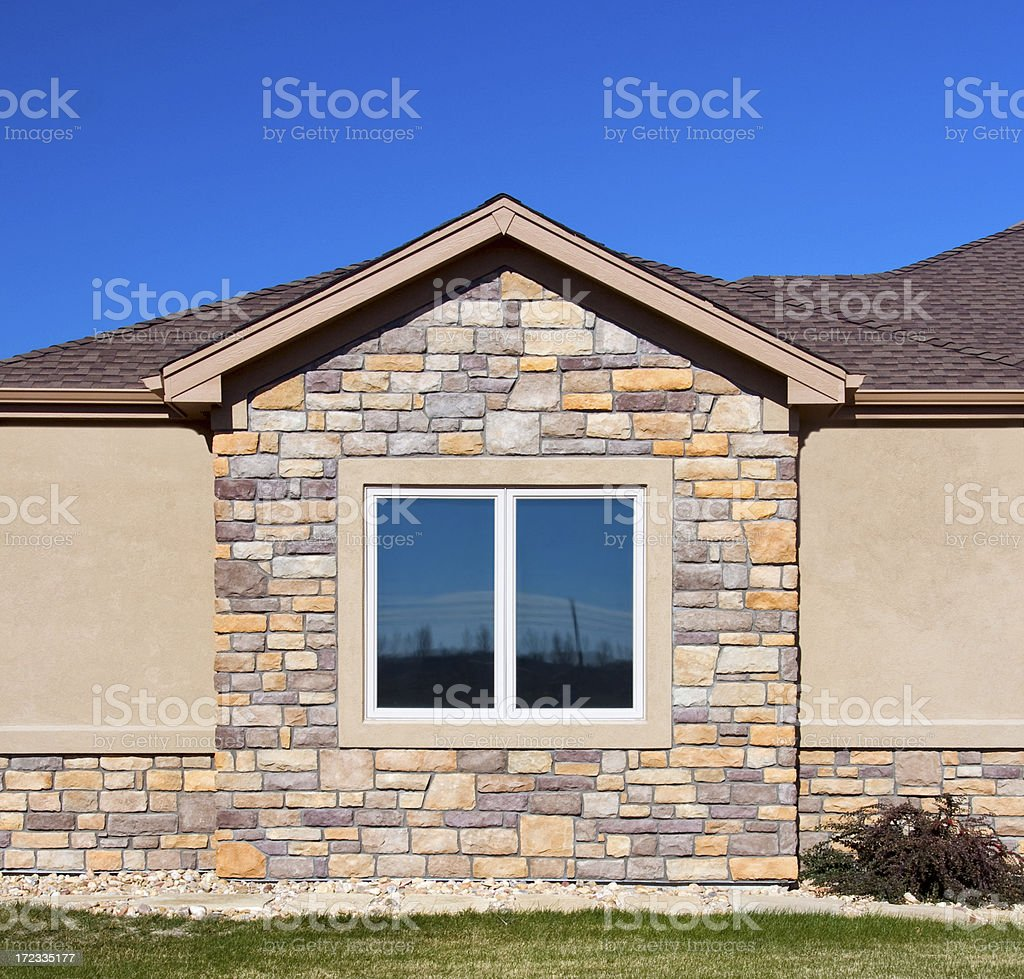 High End House Window Detail stock photo