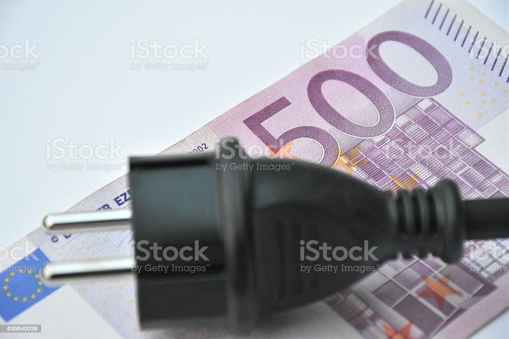 high energy costs stock photo
