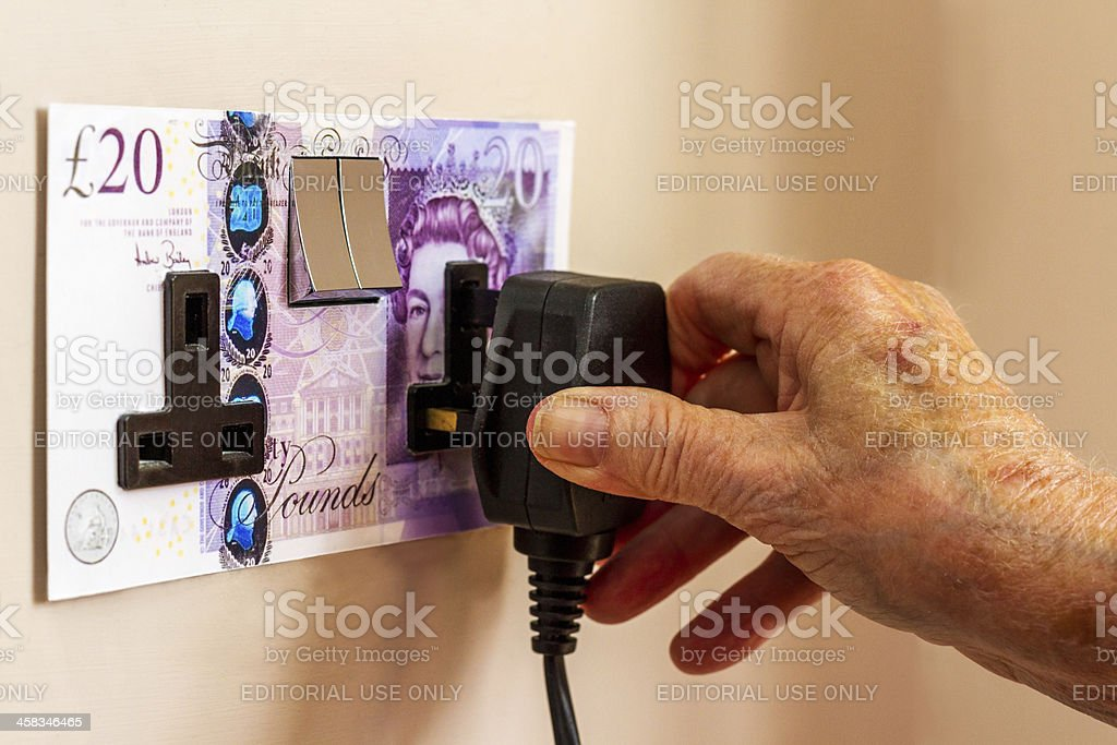 High Energy Prices Affecting The Elderly in Winter stock photo