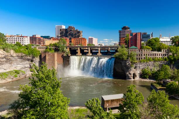 High Falls In Rochester, New York, USA stock photo