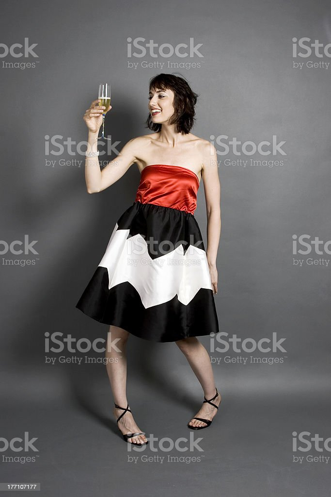 High Fashion and Champaign royalty-free stock photo