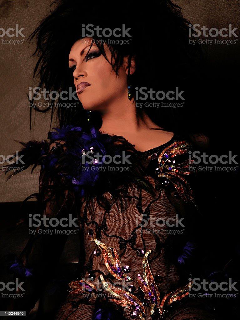 High Fashion Drag Queen stock photo