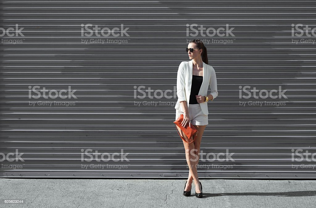 High fashion female model stock photo