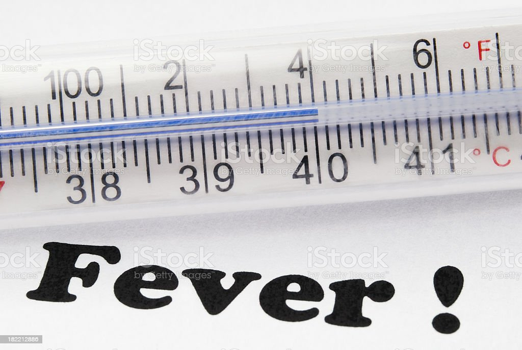 High fever (104F or 40C) - I royalty-free stock photo