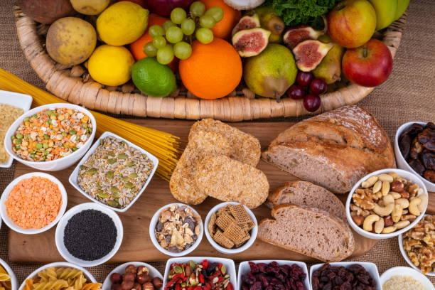High Fibre Food stock photo