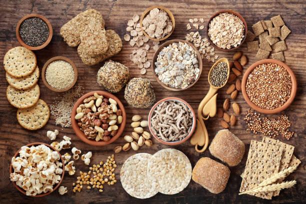 High Fibre Health Food Selection stock photo