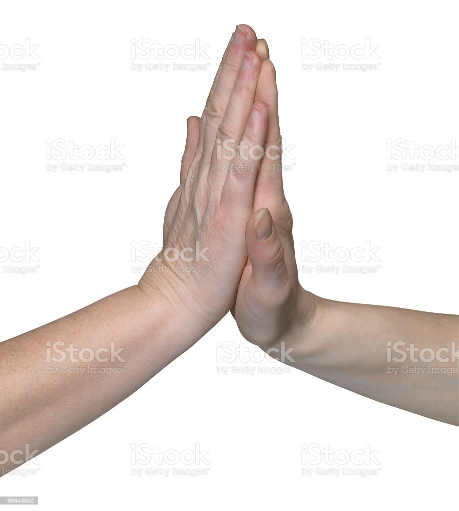 high five hands royalty-free stock photo