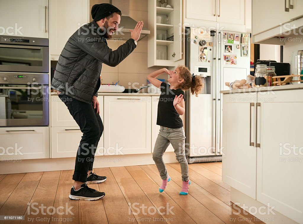 High five to fun times - foto stock