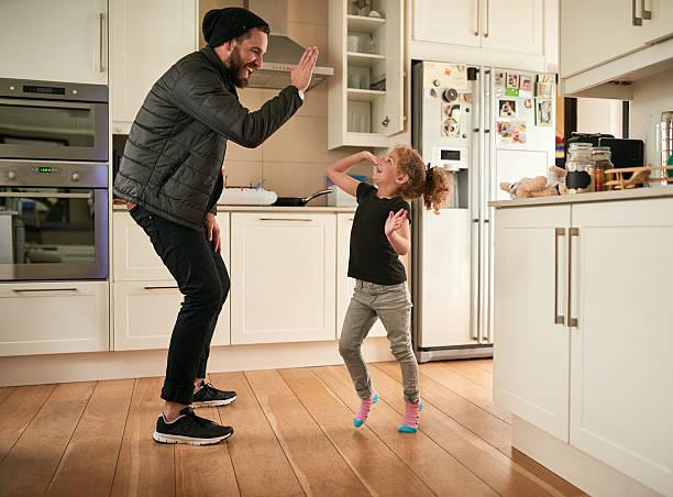 High five to fun times - foto stock