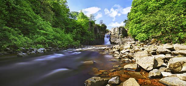High Force Waterfall HDR Panorama stock photo