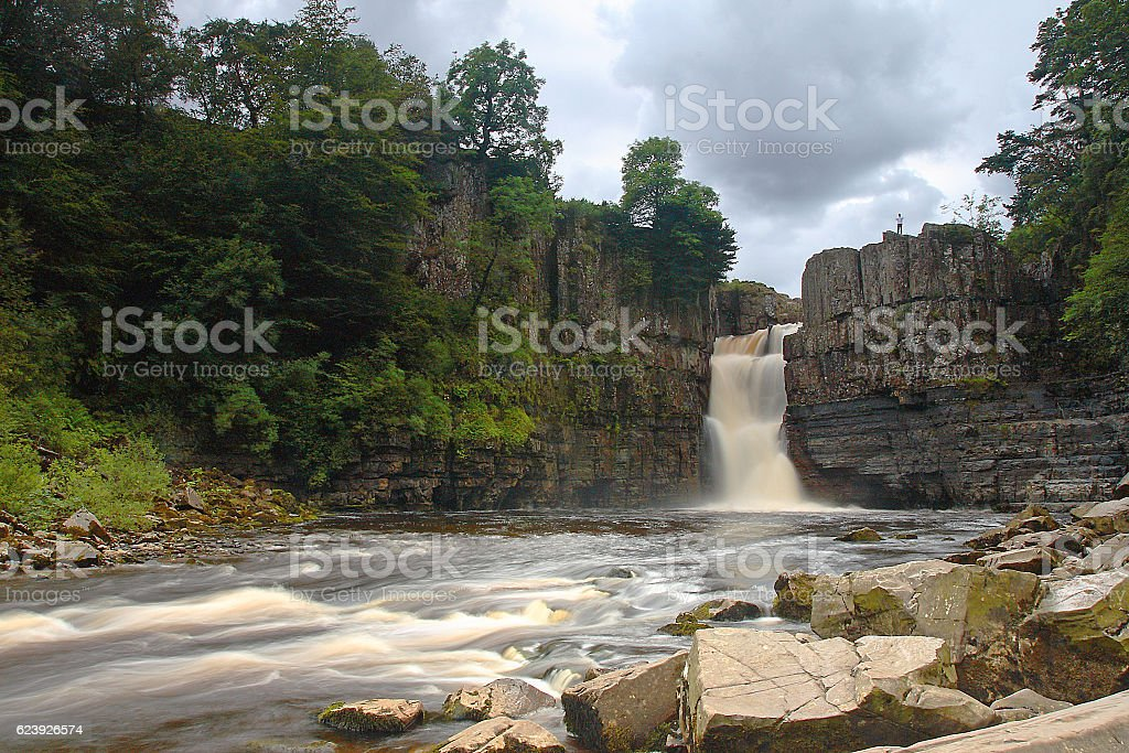 High Force Waterfall in County Durham stock photo