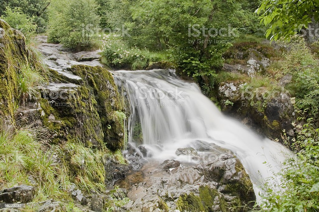 High Force Waterfall in the Lake District royalty-free stock photo