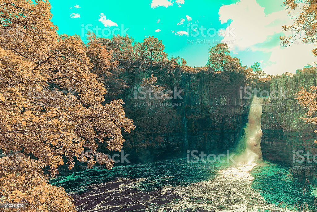 High Force Waterfall stock photo