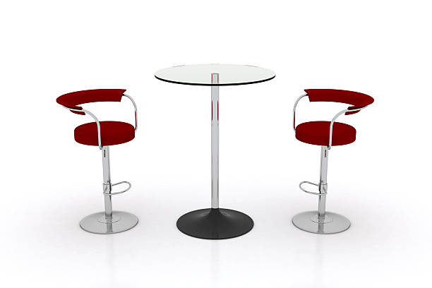 high glass top table w chairs - tall high stock pictures, royalty-free photos & images