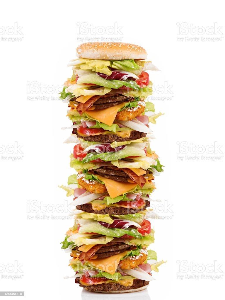 High Hamburger royalty-free stock photo