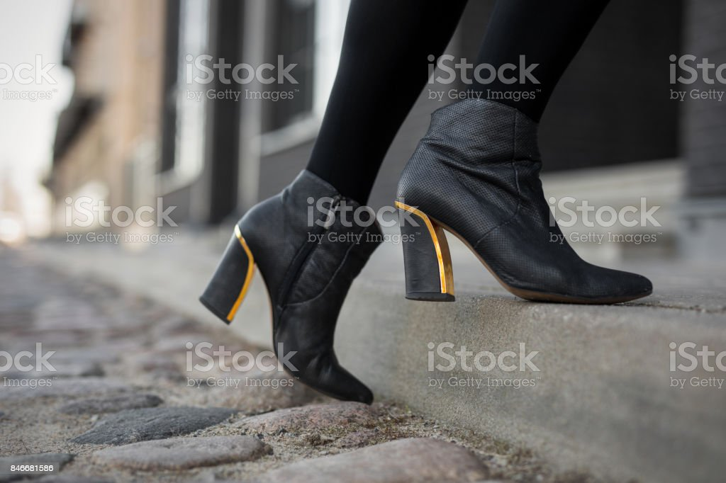 High heel boots stock photo