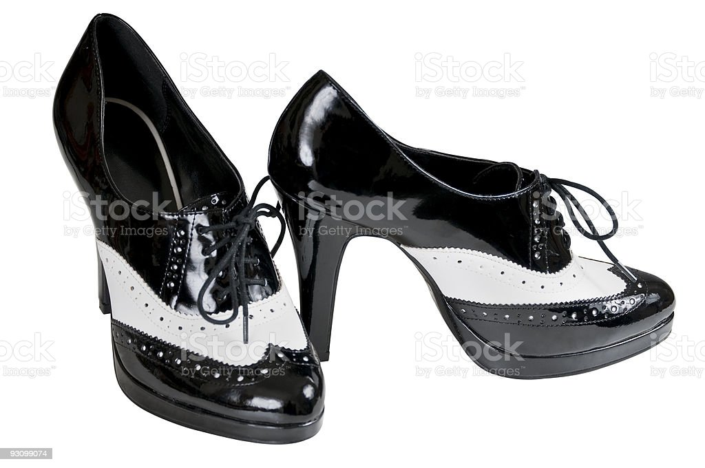 High heel spats isolated with clipping path royalty-free stock photo