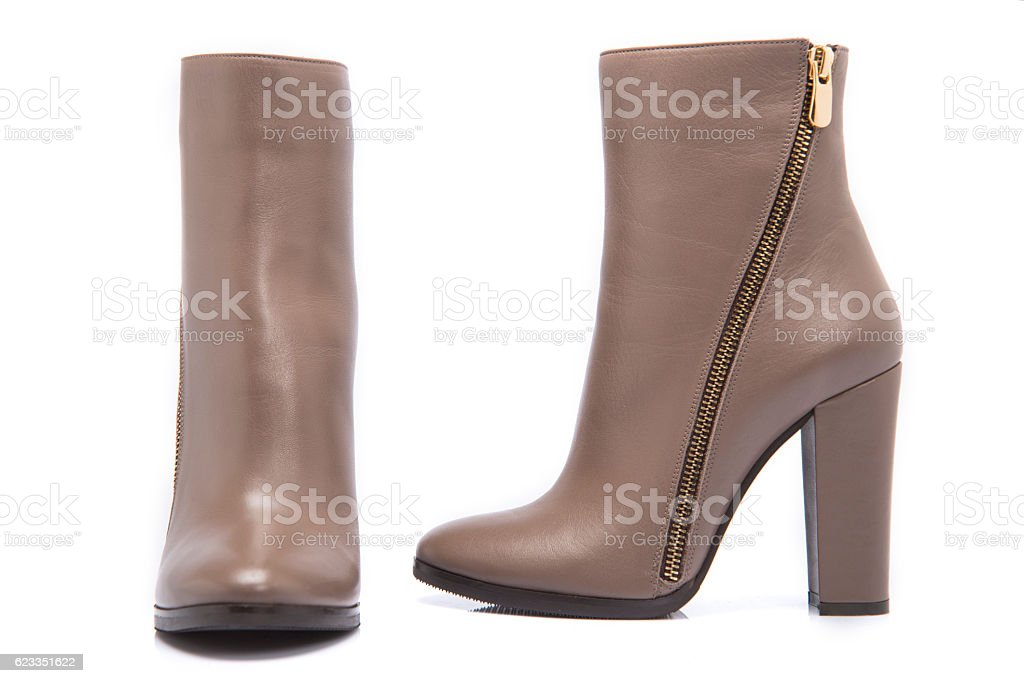 High Heel Woman Ankle Boots stock photo