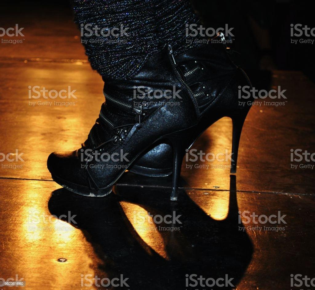 High heeled boots stock photo