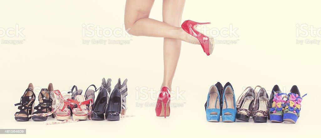 Salto alto e calçados - foto de acervo