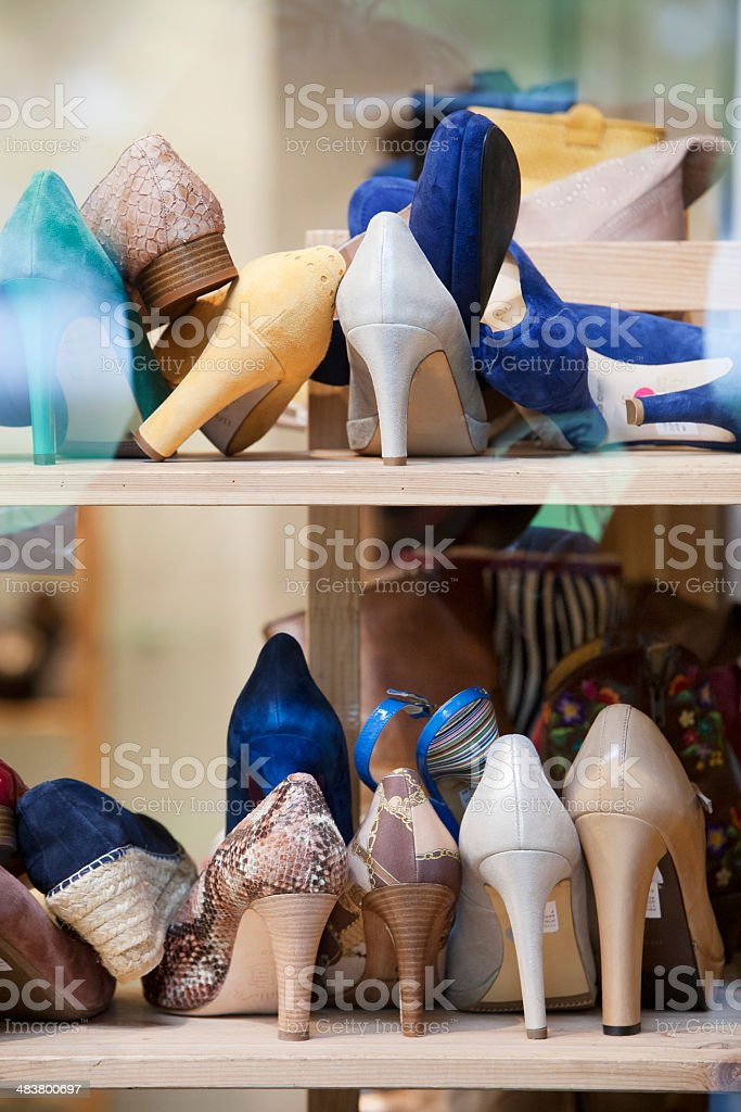 High Heels in the shoe store​​​ foto